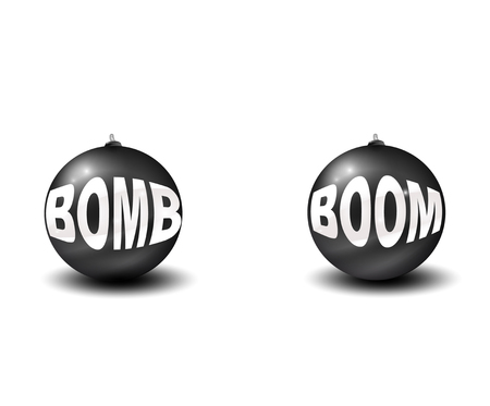 Two bombs. Vector eps10 Vector