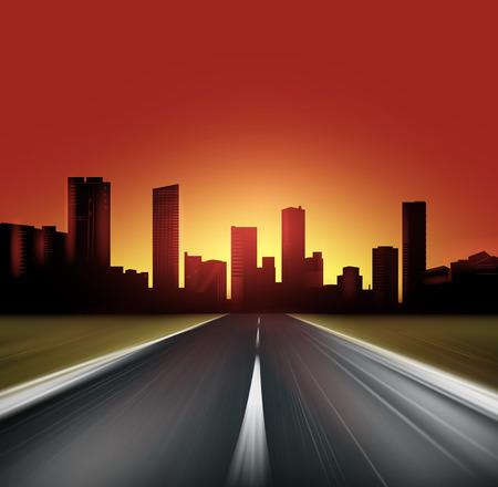 道路  イラスト・ベクター素材