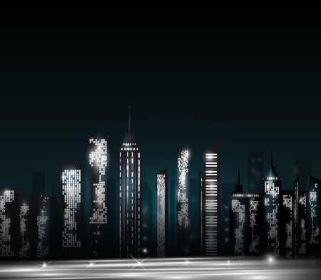 city scape: Cartoon city