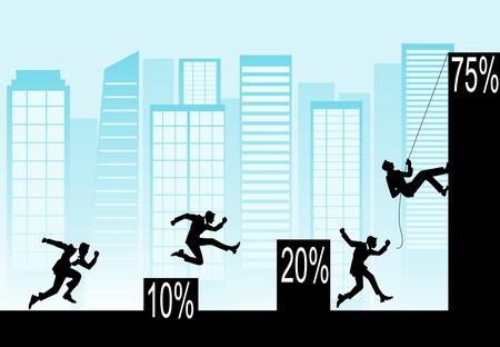 professionalism: Conceptual illustration of business topics. Vector eps 10