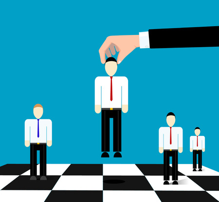 Conceptual image of business relationships as a game of chess