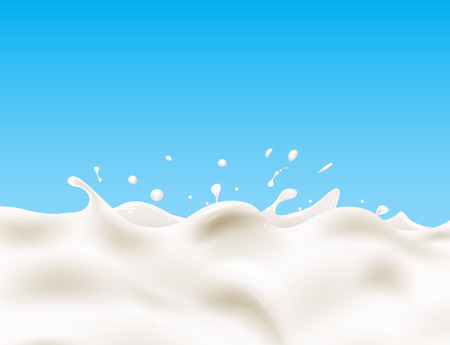 milk drop: Tasty milk design element Illustration