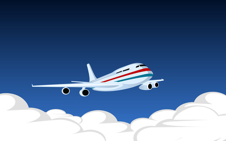 Vector image with plane