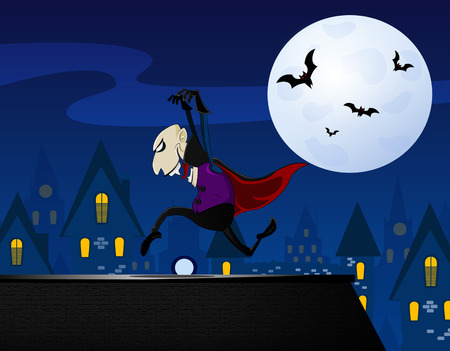 vlad: Vampire sneaking up on the roof