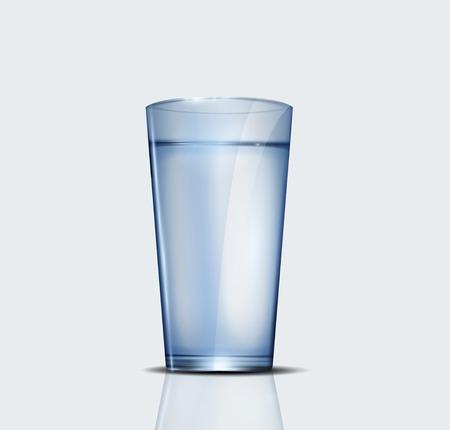 Realistico bicchiere d'acqua Archivio Fotografico - 34154797