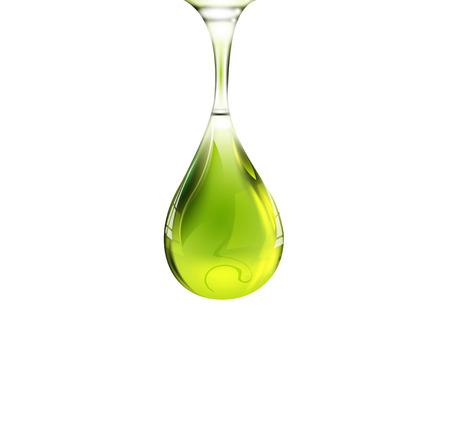 Olive oil drop  イラスト・ベクター素材