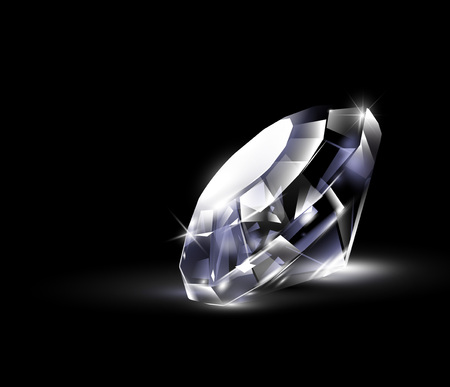 royal background: Shiny bright diamond. Vector Illustration