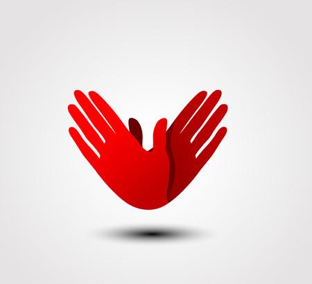 Caring hand icon