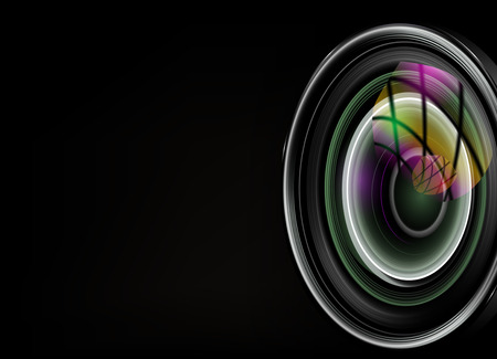 camera lens: illustration of colorful camera Illustration