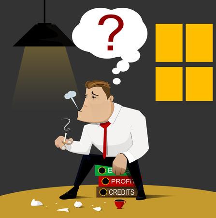 faillite: Affaires qui la faillite, conception de vecteur.
