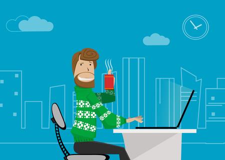 hombres ejecutivos: empleado de oficina en casa.