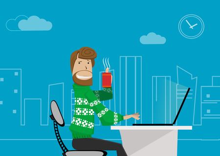 teleworker: office worker at home.