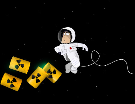 rubbish dump: risk of pollution the space environment