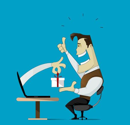 Smiling customer Illustration