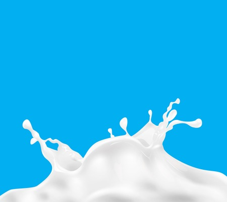 glass of milk: Milk splash vector background