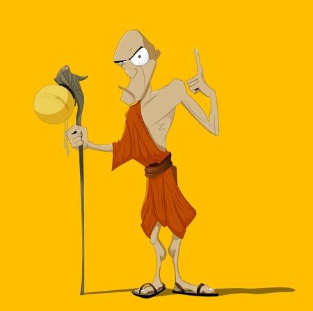 buddhist: Buddhist Monk Illustration