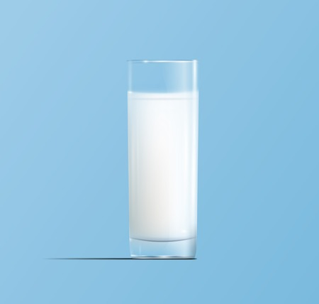 drinking milk: Glass of milk Illustration