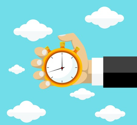 Time management. Stock Illustratie