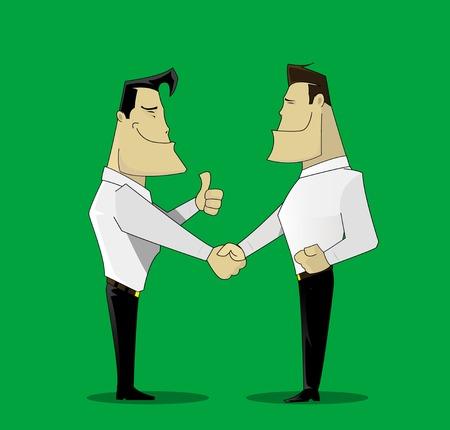 grey hair: two cheerful businessman Illustration