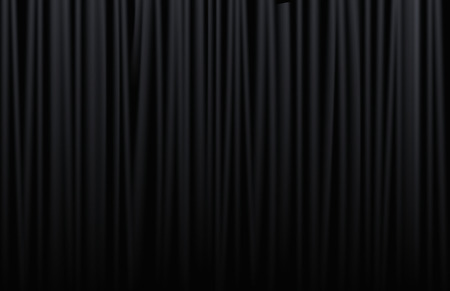 Black curtain from the theatre with