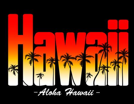 Aloha Hawaii Illustration