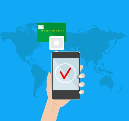 mobile payment: mobile payment credit card Illustration