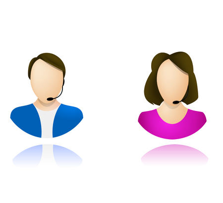 callcenter: Customer service operator icons