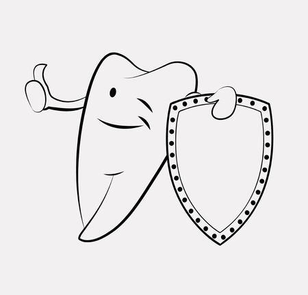 diente caricatura: Diente de dibujos animados