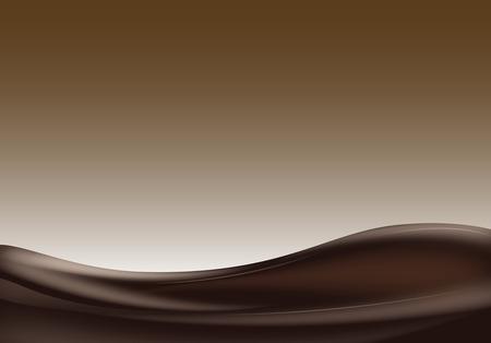 다크 초콜릿 물결