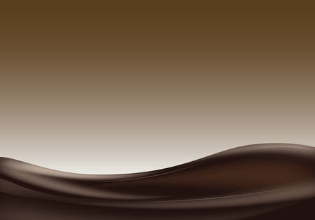 Donkere chocolade wave Stock Illustratie