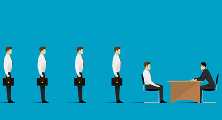 Human Resources concept. Choosing the perfect candidate for the job