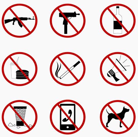 prohibido: Establecer Signos prohibidos