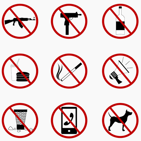 phone ban: Set Prohibited Signs