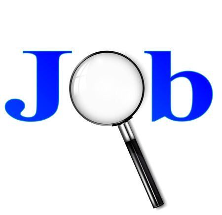 Searching job concept.