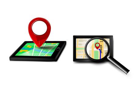 gps navigator: Gps navigator icons. Vector  Illustration