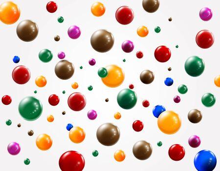 Colored balls background. Vector  Illustration