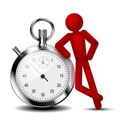 Time management background. Vector  Illustration