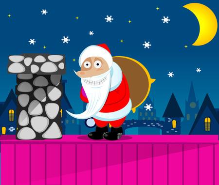 Santa Claus New Year Eve. Vector eps 10 Illustration