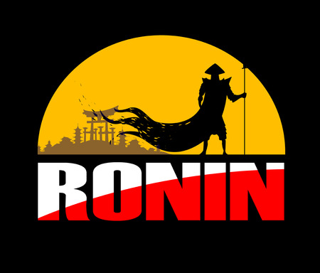 ronin: Illustration of samurai warrior. Vector