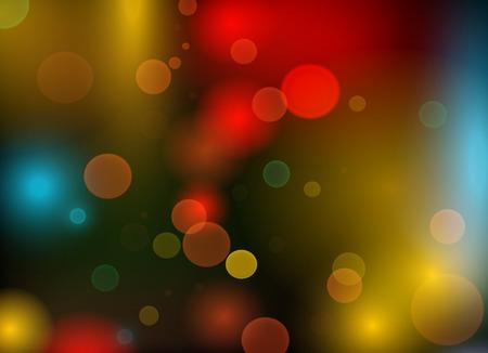 Bright carnival lights  - vector illustration.
