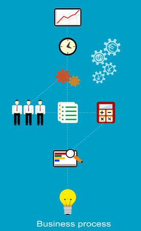 Conceptual business process. Vector
