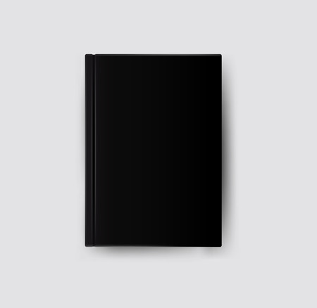 standing on white background: Black book. Vector  Illustration