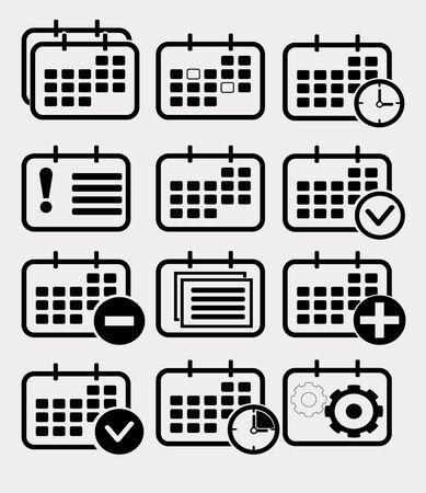 calender icon: Calendar icon set. Vector