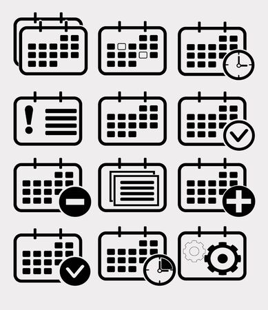 icono de calendario: Calendario conjunto de iconos. Vector