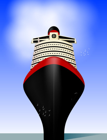 ferry boat: Cruise liner. Vector