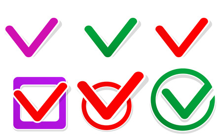 Paper check icons. Vector