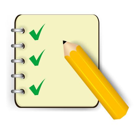 Notebook icon. Vector