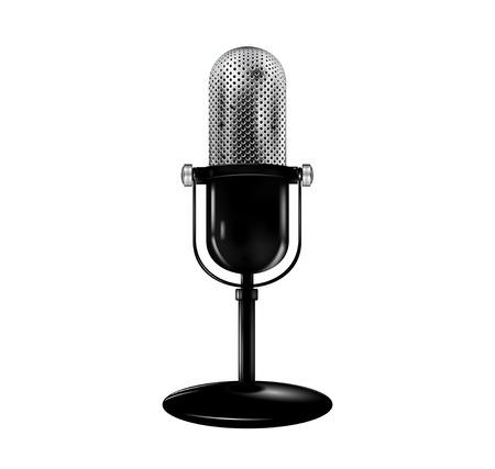 retro microphone: Retro microphone. Vector   Illustration