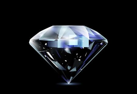 Realistic diamond. Vector