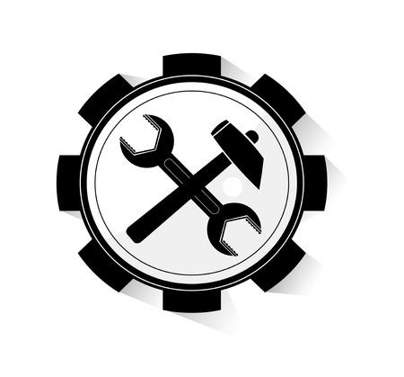reconditioning: Repair icon. Vector